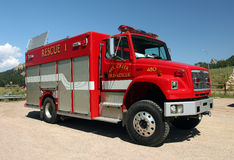 Red Fire Rescue Truck Stock Images