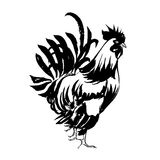 Red Fire Rooster, Chinese New Year 2017 Symbol. Hand drawn by Ink. Vector illustration.  Royalty Free Stock Images
