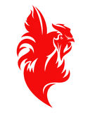 Red fire rooster vector design Stock Photography
