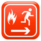 Red fire sign Stock Image