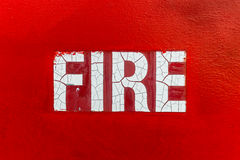 Red Fire Sign Stock Photo
