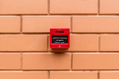 Red Fire switch Royalty Free Stock Image