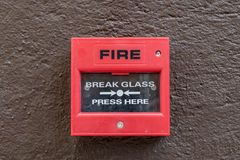 Red Fire switch Stock Images