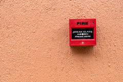 Red Fire switch Stock Photo