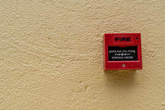 Red Fire switch Royalty Free Stock Photos