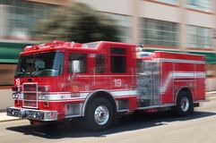 Red fire truck stock images