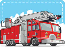 Red Fire Truck or Fire Engine. A vector image of a fire truck/engine. Available as a Vector in EPS8 format that can be scaled to any size without loss of quality Stock Photos