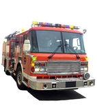 Red Fire truck. A typial yelloe airport fire truck Stock Photos
