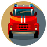 Red Fire Truck Vector Illustration. Vector Illustration of Red Fire Engine Royalty Free Stock Image