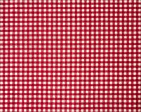 Red firebrick gingham pattern fabric texture background. Red firebrick gingham pattern cotton linen fabric texture background Royalty Free Stock Image