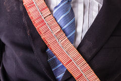 Red firecrackers bandolier Royalty Free Stock Photos