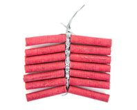 Free Red Firecrackers On White Background. Firecrackers  Royalty Free Stock Photography - 148378457