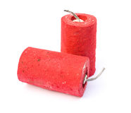 Red firecrackers Stock Images