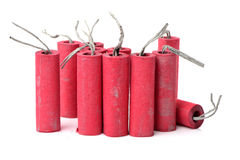 Red Firecrackers Stock Image