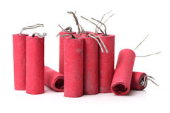 Red Firecrackers Stock Photography