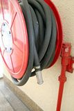 Red firehose Stock Image