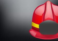 Red fireman helmet vector background Stock Photos