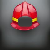 Red fireman helmet vector background Stock Photo