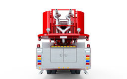 Red Firetruck back view. Isolated on a white background Stock Image