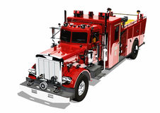 Red firetruck Isolated Royalty Free Stock Image