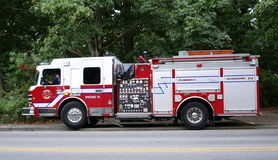 Red firetruck Stock Photography