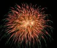Red Firework 2 Stock Photo