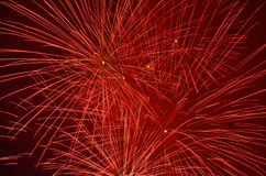 Red firework Royalty Free Stock Photos