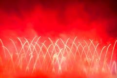 Red firework display Stock Image