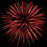 A red firework explosion Royalty Free Stock Photography