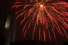 Red firework explosion royalty free stock image