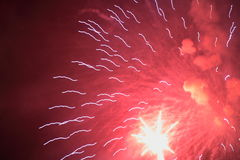 Free Red Fireworks Royalty Free Stock Photos - 1595528