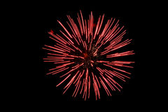Red Fireworks Royalty Free Stock Images