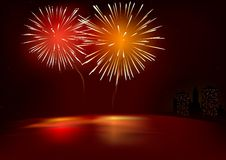 Free Red Fireworks Stock Photography - 3515442