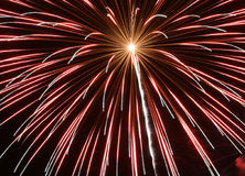 Red Fireworks. Close in on a red fireworks display Stock Images