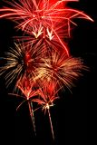 Red Fireworks royalty free stock photos