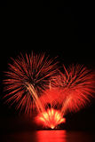 Red fireworks Royalty Free Stock Photography