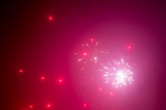 Red fireworks abstract background Royalty Free Stock Images