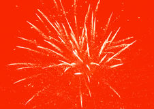 Red Fireworks Background