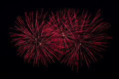 Red Fireworks Stock Images