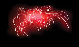 Red fireworks illustration Royalty Free Stock Image