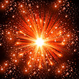 Red Fireworks. New year concept Royalty Free Stock Image