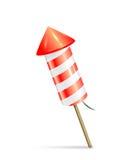 Red fireworks rocket Stock Image