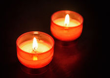 Red firing candles Stock Photography