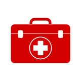 Red first aid box. Vector icon Royalty Free Stock Photo