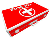 Red first aid box. On a white background Royalty Free Stock Images