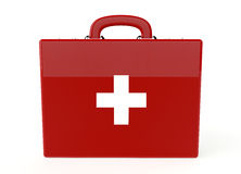 Red first aid kit. On white background Royalty Free Stock Image