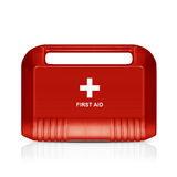 Red first aid kit Stock Photos