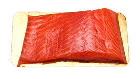 Red fish. Fillet of red fish on a board. Isolation Stock Photo