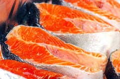 Red fish. Fresh fish pieces. Red fish. Selective focus Royalty Free Stock Image