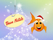 Red fish celebrate Christmas Royalty Free Stock Images